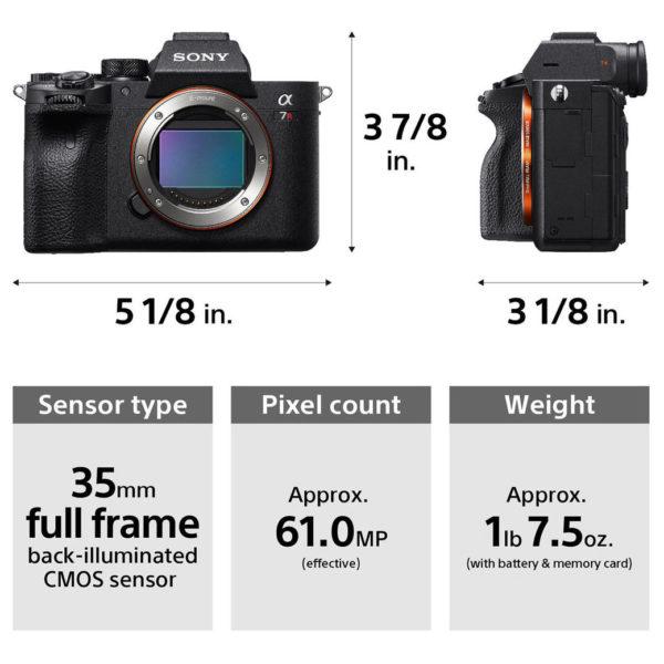 Sony ILCE7RM4 a7R IV Mirrorless Digital Camera Body Black