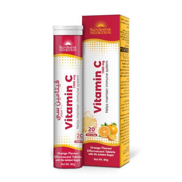 Sunshine Nutr Vitamin C 1000mg Orange Flav Efferv Tablets
