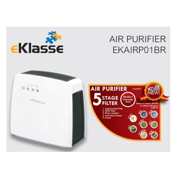 Eklasse Air Purifier With HEPA Filter EKAIRP01BR