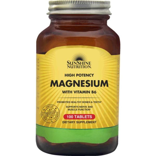 Sunshine Nutr High Potency Magnesium W/ Vit B6 Tablets
