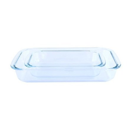 RoyalFord Glass Oblong Baking Dish Set 2pcs 2.2L & 1L