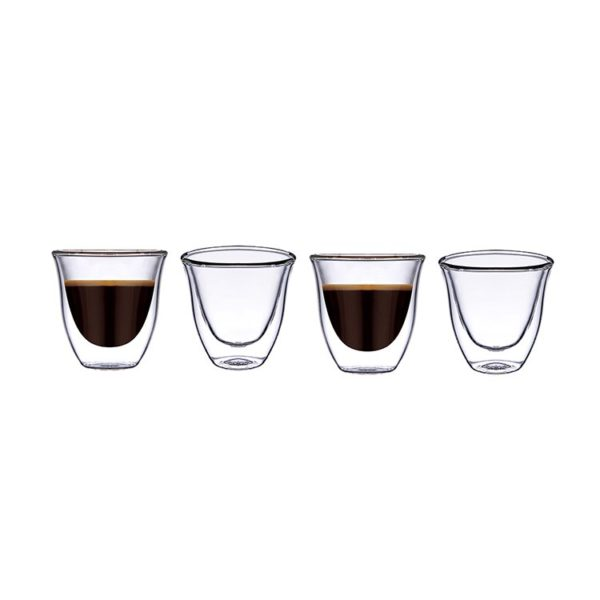 Blackstone Double Wall Glass Cawa Cup DG501 70ml 4Pcs