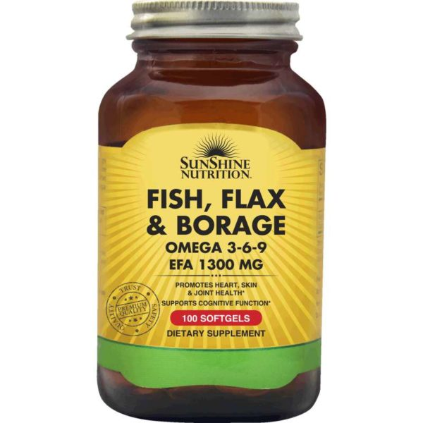 Sunshine Nutri Fish Flax&Borage Omega 369 1300mg Softgels
