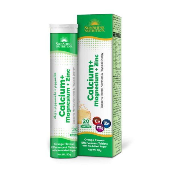 Sunshine Nutri Calcium Magnesium Zinc With VitD3 Tablets