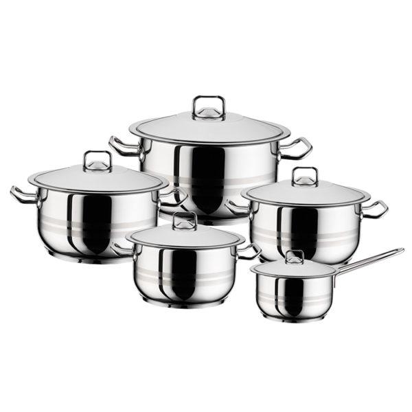 Hascevher Cookingpot Gastro 10 Pieces Set