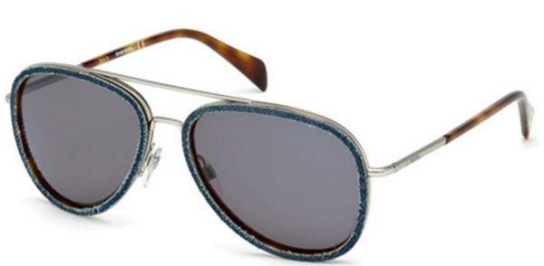 Diesel Aviator Blue Metal Unisex Sunglasses DL016756A58