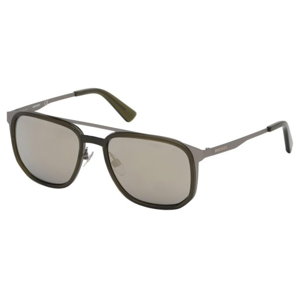 Diesel Grey Metal Non-Polarized Men Sunglasses DL029409C55