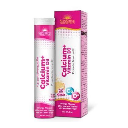 Sunshine Nutr Calcium + Vitamin D3 Effervescent Tablets