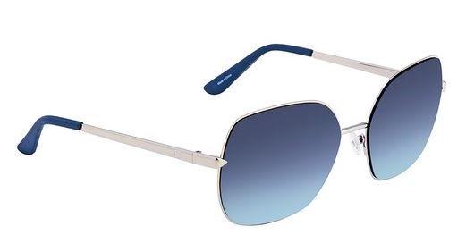 Guess Full Rim Blue Metal Women Sunglasses GU756010X61