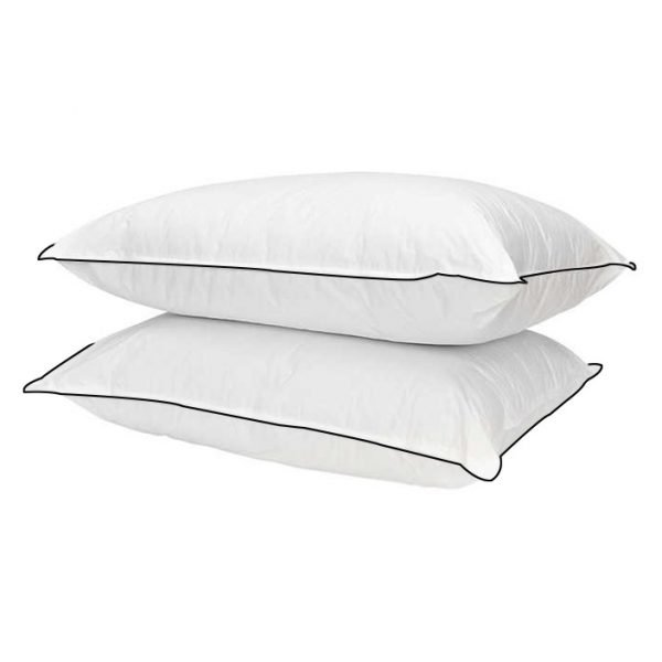 2pcs Set Extra Super Soft Pillow With Black Cord