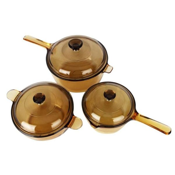 Visions 6pcs Saucepan/Cookpot Set