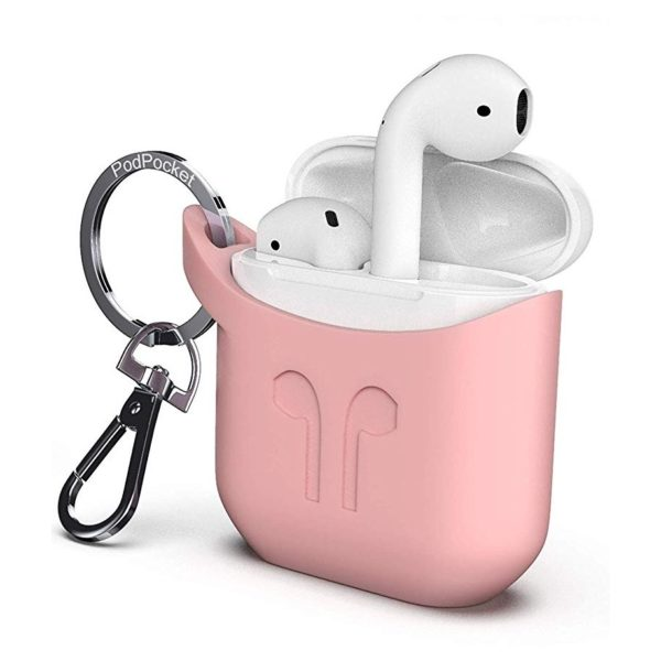 Podpocket Silicone Case Pink For Apple Airpod