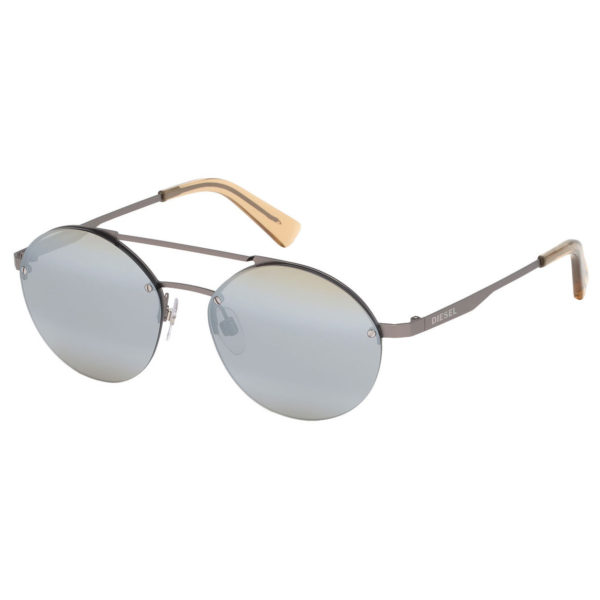 Diesel Rimmed Grey Metal Unisex Sunglasses DL027509C53