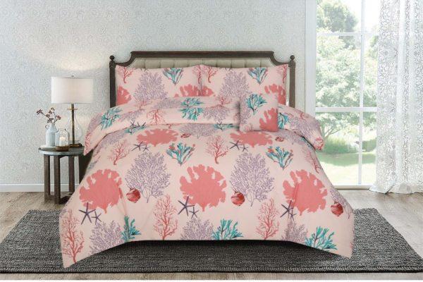 Kassino Bed Sheet Twin 3pcs Set Batre Peach