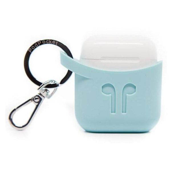 Podpocket Silicone Case Light Blue For Apple Airpod
