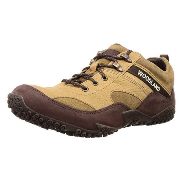 Buy Woodland Men Camel Leather Shoe 42