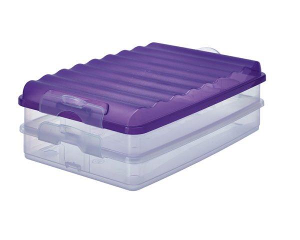 RIVAL Fridge Box Flat 2Layer Viloet