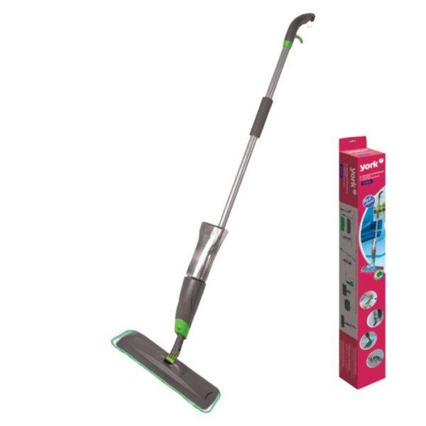 YORK Flat Mop Stick With Spray 91cm Multicolor