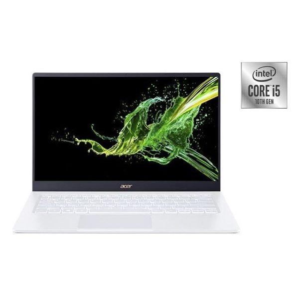Acer Swift 5 SF514-54GT-54PK Laptop - Core i5 1GHz 8GB 512GB 2GB Win10 14inch FHD Moonlight White