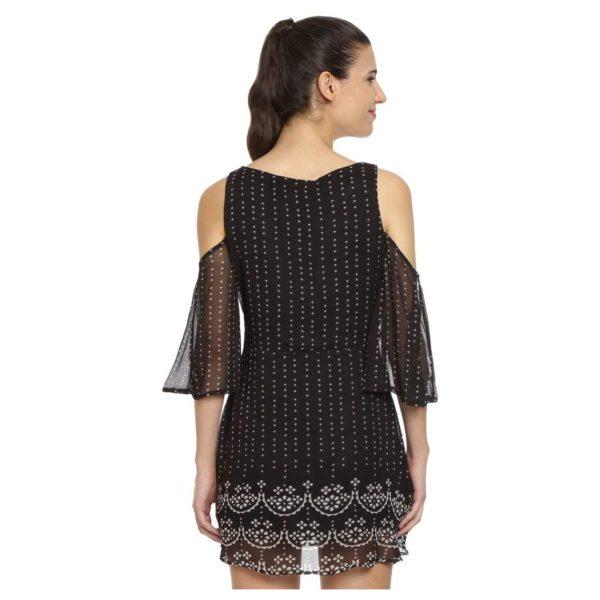 Love Gen Bandhani Print Dress Black Size L