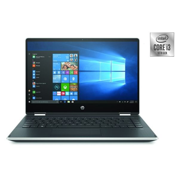 HP Pavilion x360 14-DH1009NE Convertible Touch Laptop - Core i3 2.1GHz 4GB 256GB Shared Win10 14inch FHD Natural Silver