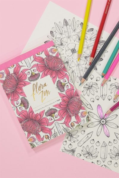 TYPO Post Card Colouring Book
