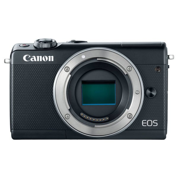 Canon EOS M100 Mirrorless Digital Camera Body Black With EF-M15-45 IS STM Lens