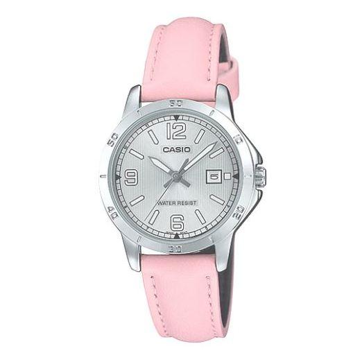 Casio Pink Leather Women Watch LTP-V004L-4BUDF