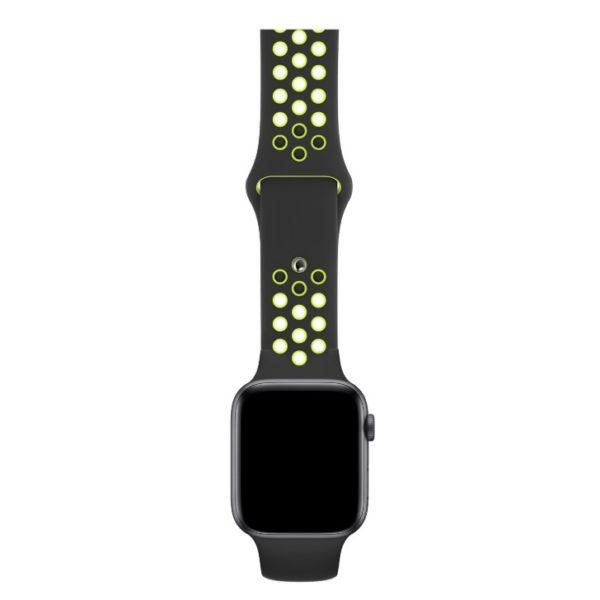 BeHello Premium Silicone Strap 42/44mm For Apple Watch Black/Green
