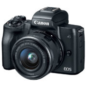 Canon EOS M50 Mirrorless Digital Camera Black With EF-M 15-45mm f/3.5-6.3 IS STM Lens