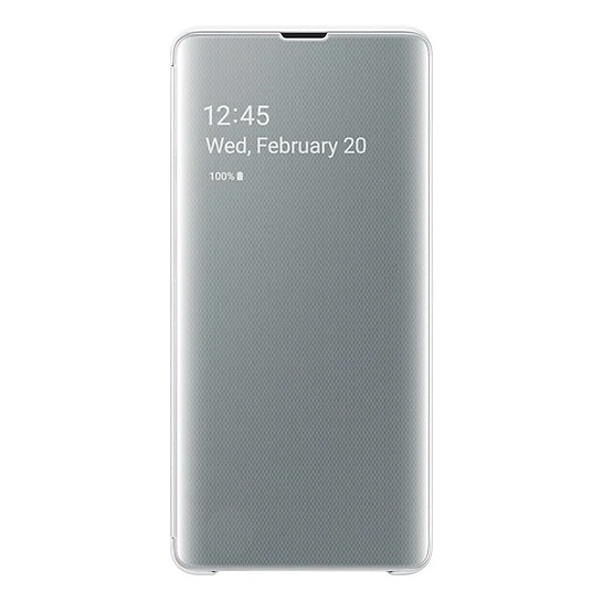 Samsung Clear View Flip Case White For Galaxy S10 Plus