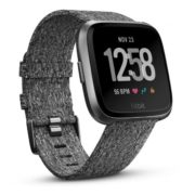 Fitbit Versa Fitness Watch Special Edition Charcoal Woven/Graphite Aluminum