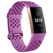 Fitbit Charge 3 Advanced Fitness Tracker - Berry/Rose Gold Aluminum