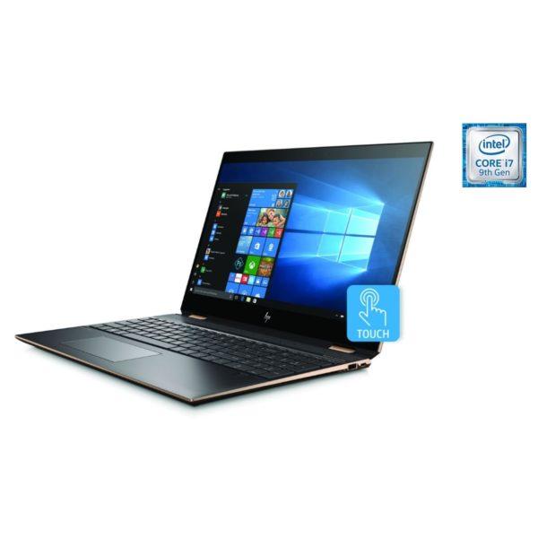 HP Spectre x360 15-DF1006NE Convertible Touch Laptop - Core i7 2.6GHz 16GB 1TB+32GB 4GB Win10 15.6inch 4K Dark Ash Silver
