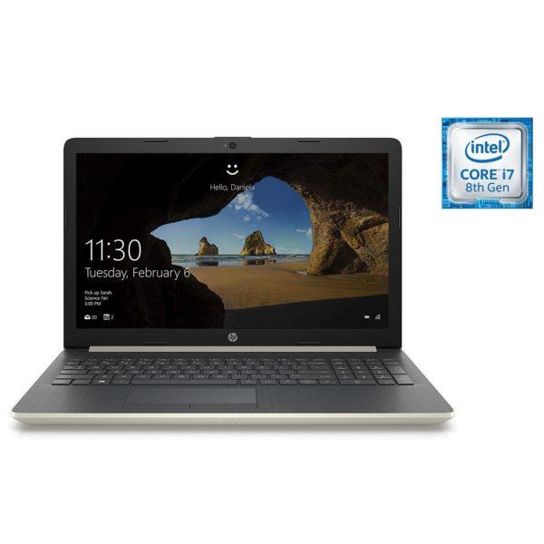 HP 15-DA1000NE Laptop - Core i7 1.8GHz 8GB 1TB 2GB Win10 15.6inch FHD Gold English/Arabic Keyboard