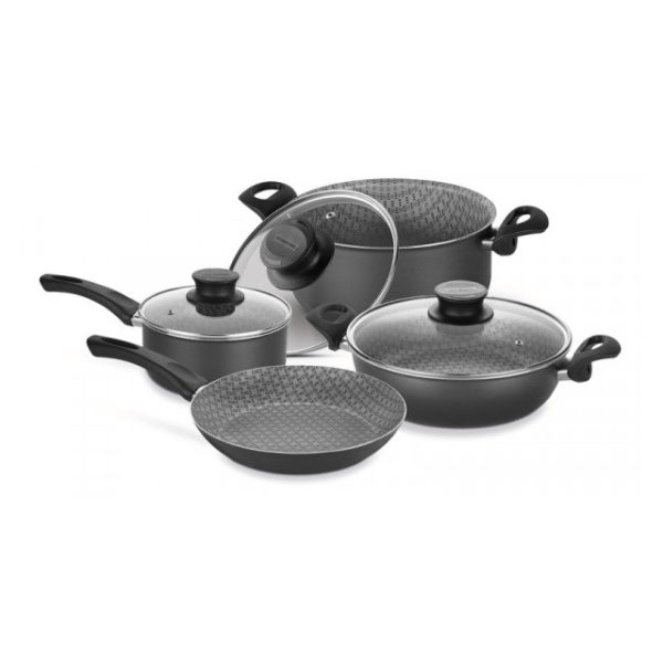 Tramontina 7pcs Cookware Set Paris Black