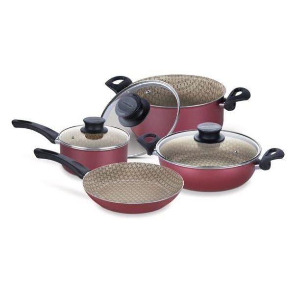 Tramontina 7pcs Cookware Set Paris Red