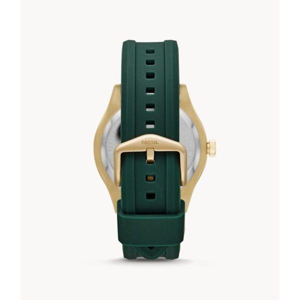 Fossil Belmar Three-Hand Date Dark Green Silicone Watch FS5597
