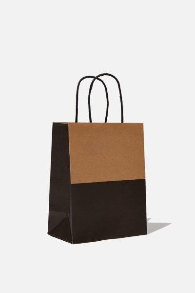 Get Stuffed Gift Bag Small Craft Black