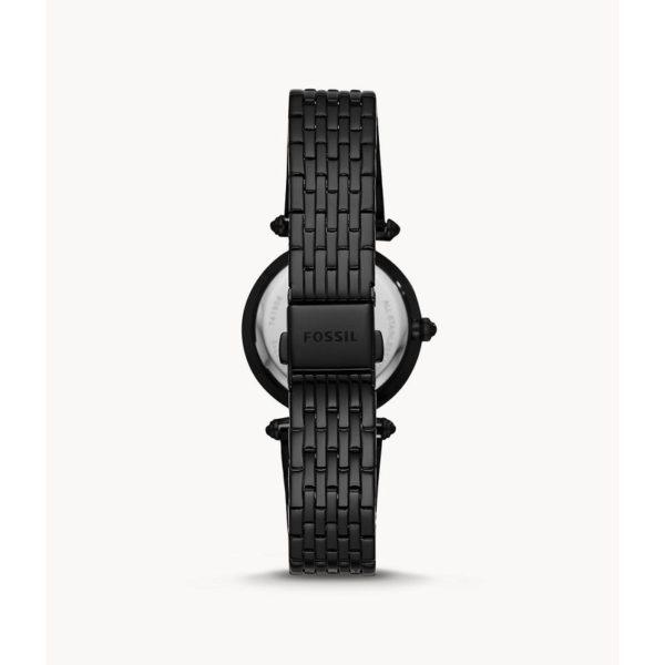 Fossil Lyric Three-Hand Black Stainless-Steel Watch ES4713