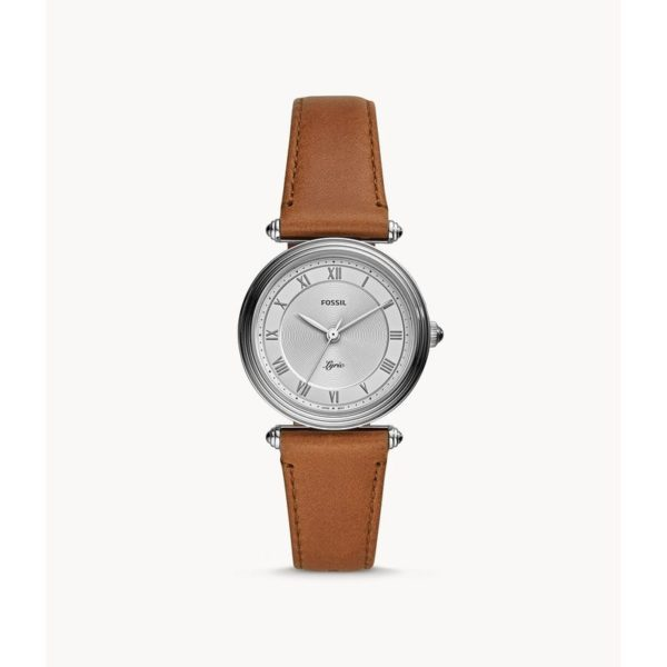 Fossil Lyric Three-Hand Brown Leather Watch ES4706