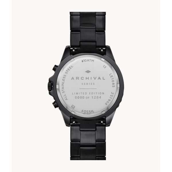 Fossil Limited Edition Garrett Chronograph Black Stainless-Steel Watch LE1085