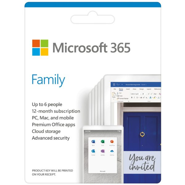 Microsoft 365 Family Online Product Key License