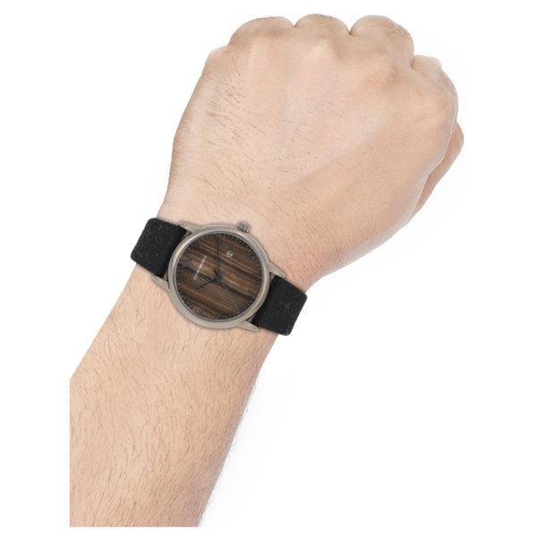 Emporio Armani Black Leather Analog Watch For Men AR11156