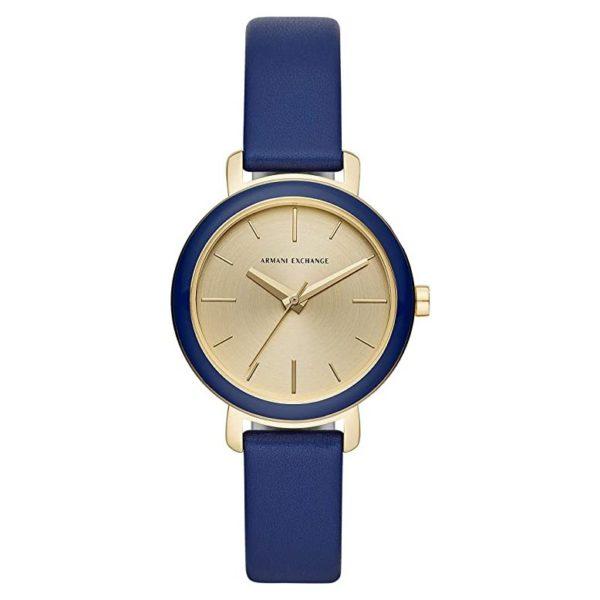 Armani Exchange AX5700 Blue Leather Analog Women Watch