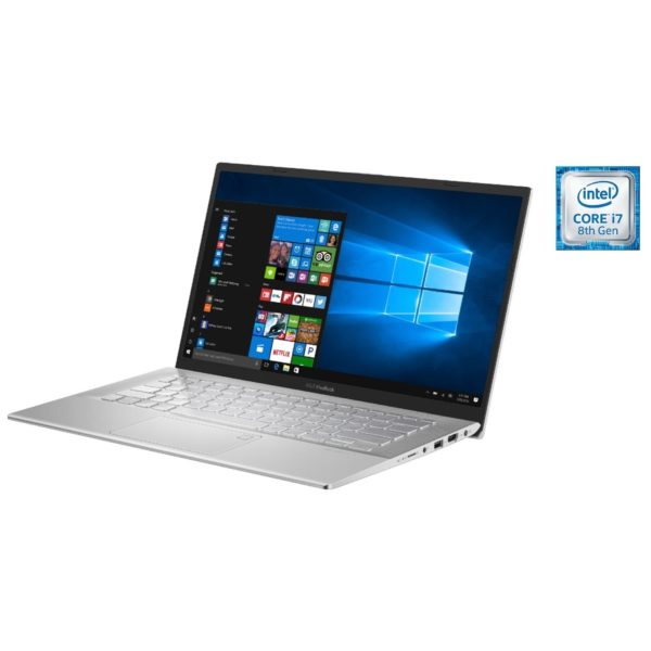 Asus VivoBook 14 A420FA-EB199T Laptop - Core i7 1.8GHz 8GB 512GB Shared Win10 14inch FHD Silver