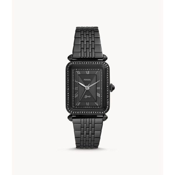 Fossil Lyric Three-Hand Black Stainless-Steel Watch ES4722