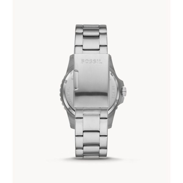 Fossil FB-01 Three-Hand Date Stainless Steel Watch FS5671