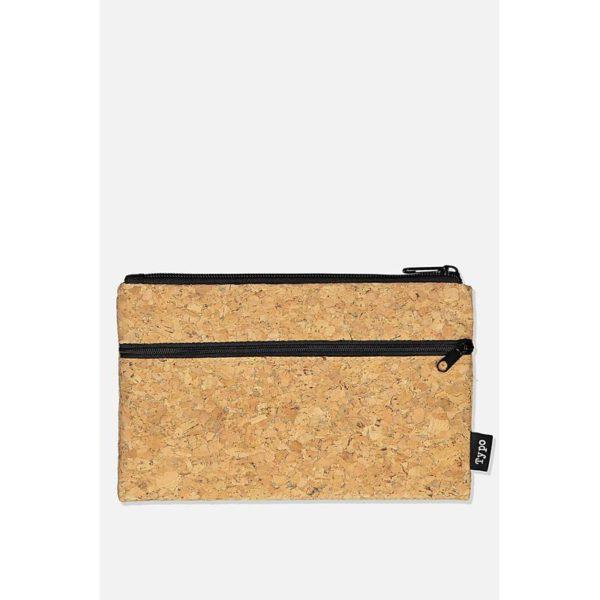 TYPO Archer Pencil Case-Cork