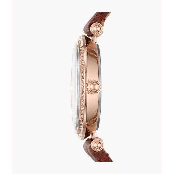 Fossil Lyric Three-Hand Brown Leather Watch ES4683